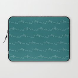 Seattle Skyline // Teal Laptop Sleeve