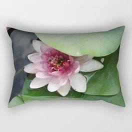 Beautiful Lotus Flower Rectangular Pillow