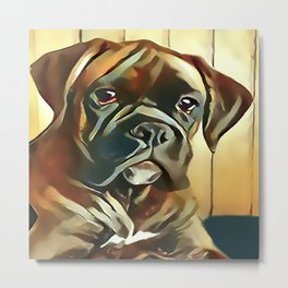 The Boxer Pup Metal Print