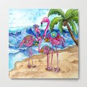 The Flamingo Family's Day at the Beach by shelleyylstart