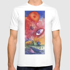 An Eye For the Surreal White MEDIUM Mens Fitted Tee