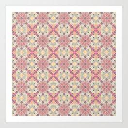 modern arabic pattern in pastel colors Art Print