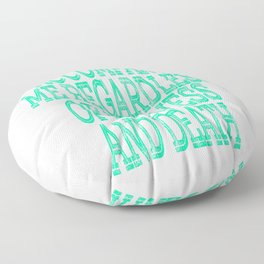 """""""Accompany Me Regardless Of Sickness And In Death"""" tee design. Awesome and unique gift too!  Floor Pillow"""