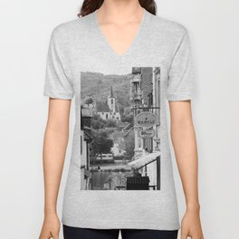 Trarbach as seen from Traben Unisex V-Neck