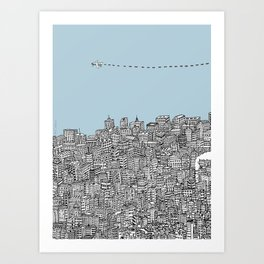 Leaving the City Art Print