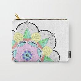 Mandala Art Flower Design Patterns Boho Pastel Carry-All Pouch