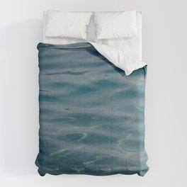 Dark Blue Sea. Waves and Ripples. 04 Comforters