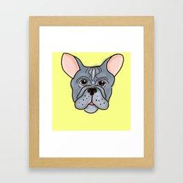 french face Framed Art Print