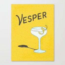 Vesper Martini with a Twist Canvas Print