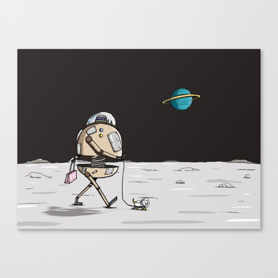 On the moon 1 Canvas Print