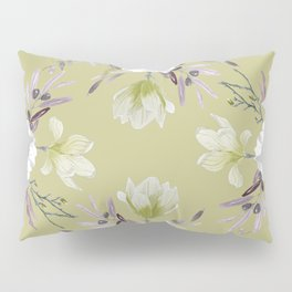 Floral Square Yellow Pillow Sham