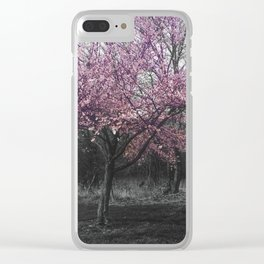 Sundays are for flowers Clear iPhone Case