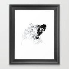 Angry Bear Framed Art Print