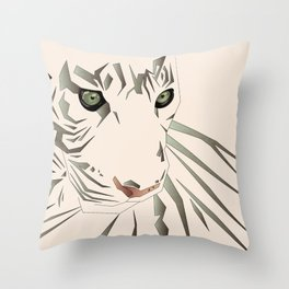 Tiger's Tranquility Throw Pillow
