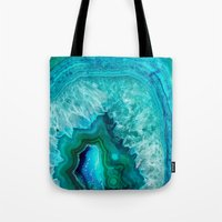 geode Tote Bags featuring Geode by Jenna Davis Designs