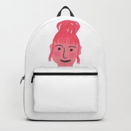 """""""Vicky"""" girl with bun and rosy cheeks Backpack"""