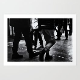 Hustle And Bustle Art Print