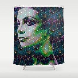 hello earth Shower Curtain