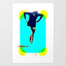 Woman Emerging (h) Art Print