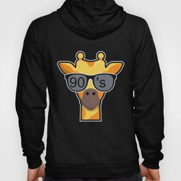 90s Party Theme Funny Animal Giraffe Gift Hoody