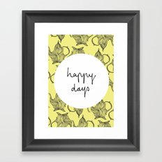 Happiest of Days Framed Art Print
