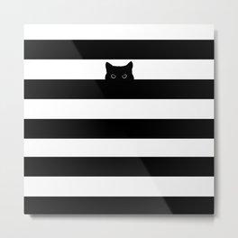 Peaking Cat - Meow... Metal Print