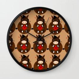 Adorable Horse Wall Clock