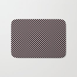 Black and Bridal Blush Polka Dots Bath Mat
