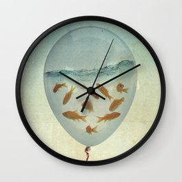 balloon fish 03 Wall Clock