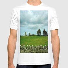 Speeding By The Irish Countryside Mens Fitted Tee White MEDIUM
