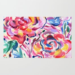 Abstract Roses 1 Rug