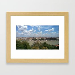 Budapest /Danube River/ Summer/ sunshine Framed Art Print