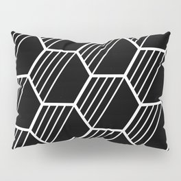 LYLA ((white on black)) Pillow Sham
