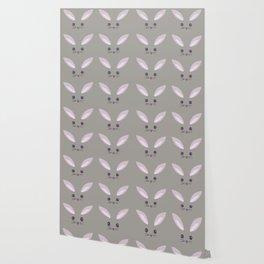 Pattern- Gray Bunny Wallpaper