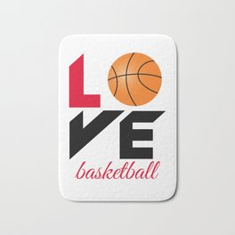 Love basketball Bath Mat