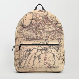 New York Central & Hudson River Railroad Map (1900) Backpack