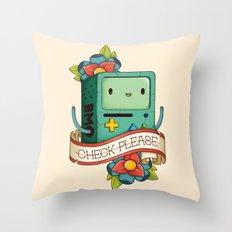 BMO | CHECK PLEASE Throw Pillow