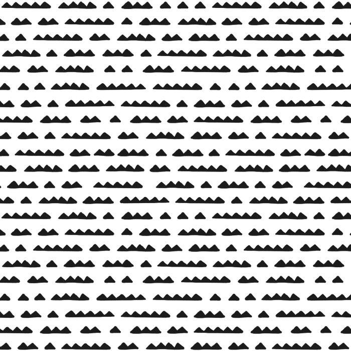 Hand Drawn Pyramids Duvet Cover