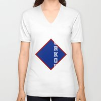 workout V-neck T-shirts featuring WORKOUT by Gravityx9