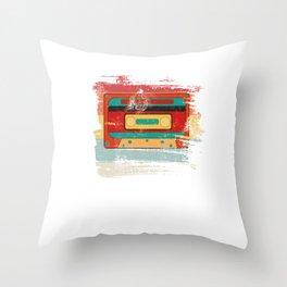 Spash Retro Audio Tape Throw Pillow