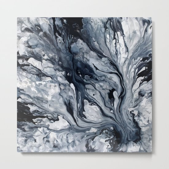 Abstract Oil Metal Print