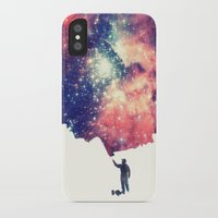 night iPhone & iPod Cases featuring Painting the universe by badbugs_art