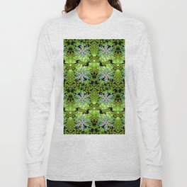 GREEN AURORA WINTER SNOWFLAKES PATTERN Long Sleeve T-shirt