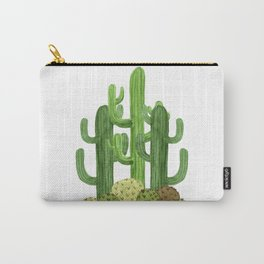 Desert Vacay Three Cacti Carry-All Pouch