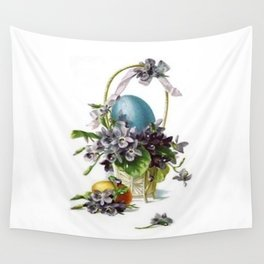 Vintage Easter Basket Wall Tapestry