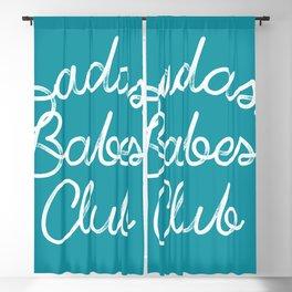 Badass Babes Club Blackout Curtain