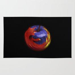 Mozilla Fire Apple Rug
