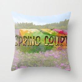 Spring Court Throw Pillow