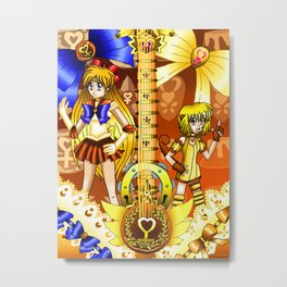 Sailor Mew Guitar #25 - Sailor Venus & Mew Pudding Metal Print