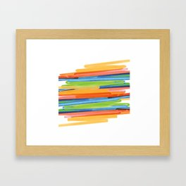 Color yellow red blue green Framed Art Print
